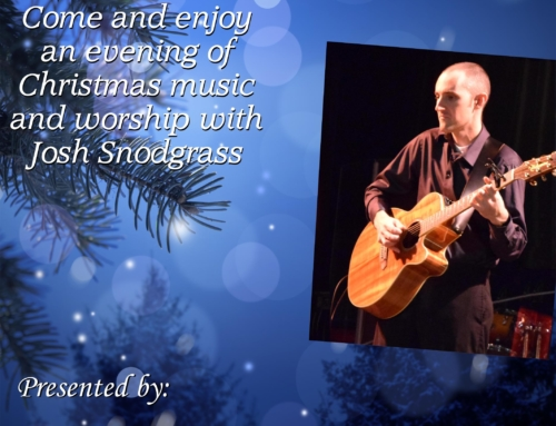 Josh Snodgrass – Sunday Dec 2 @ 6:30PM